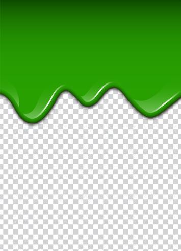 Liquide vert, éclaboussures et bavures. Illustration vectorielle de slime