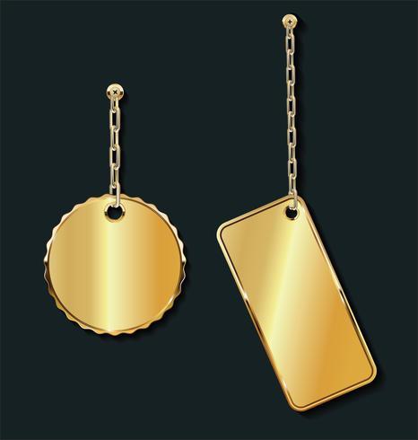 Promo lege verkoop gouden labels op de gouden kettingcollectie