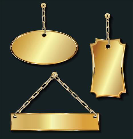 Goldene Aufkleber des leeren Verkaufs des Promo auf der goldenen Kettensammlung