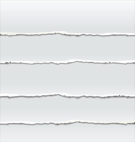 Capas de papel rasgado colocadas una sobre otra vector
