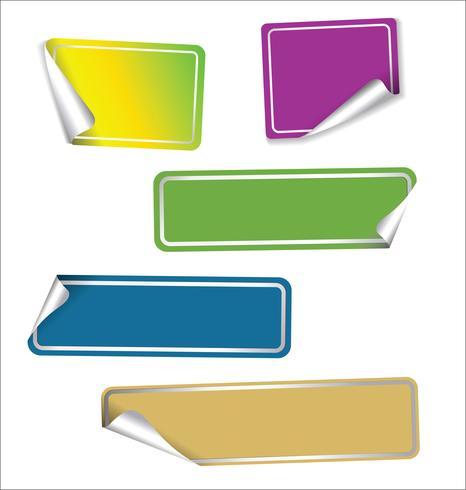 Verzameling van verkoop stickers met afgeronde hoeken