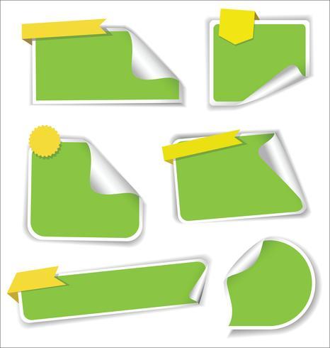 Insamling av försäljningsklister med runda hörn