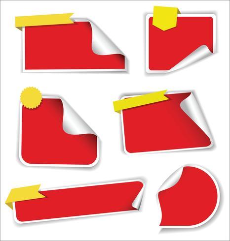 Venta moderna de pegatinas y etiquetas de colección colorida. vector