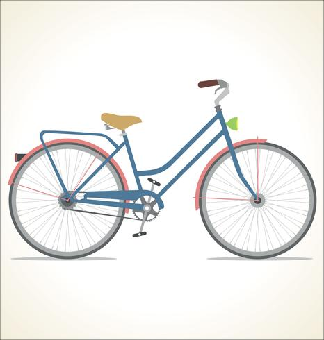 Retro vintage Bicycle Isolated on white background vector