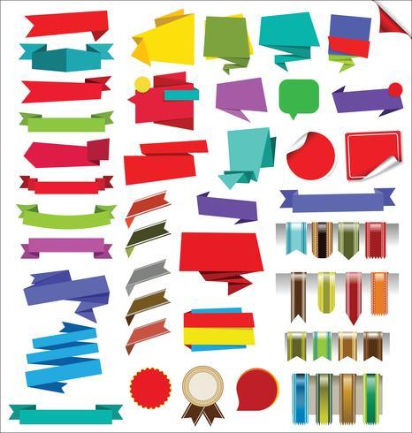 Verzameling van etiketten Stickers Banners en Tags vector ontwerp