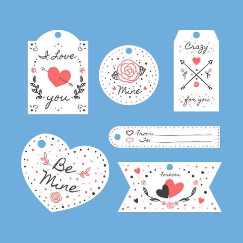 St. Valentinsdag etiketter Set Collection