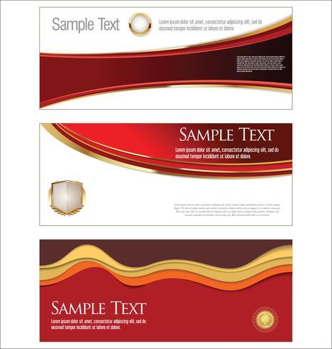 Collection de modèles de bannières horizontales vector illustration