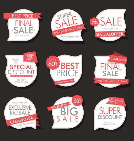 Collection de stickers, étiquettes badges modernes