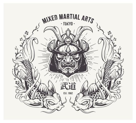 Martial Arts Print vector