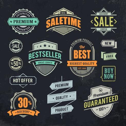 Grunge verkoop emblemen