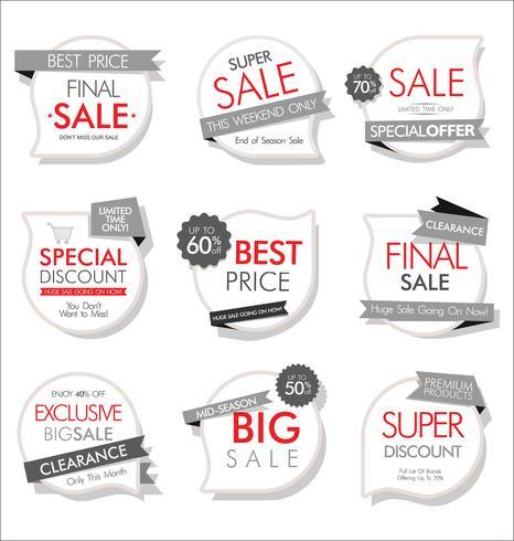 Moderne badges stickers en labels-collectie vector