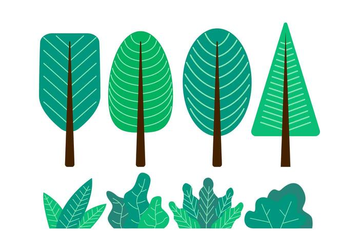 Baum Clipart-gesetzte Vektor-Illustration
