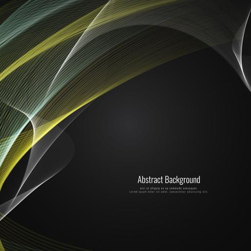 Bunter Designhintergrund der abstrakten Wellenart