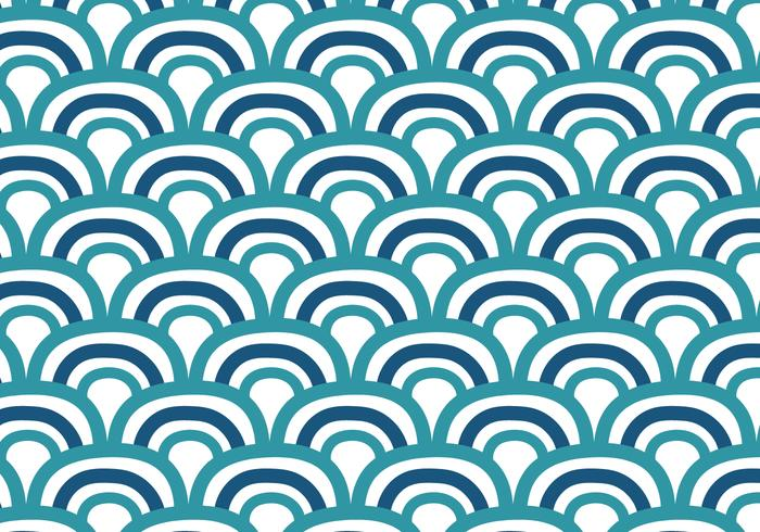 Doodle fondo de ondas japonesas
