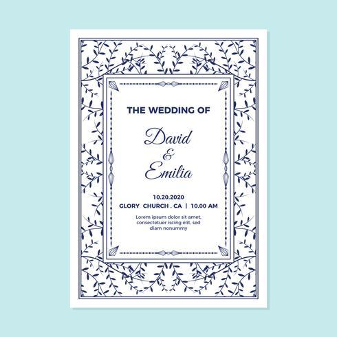Kort för bröllopsinbjudan