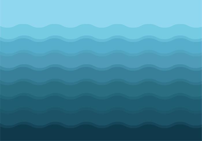 Gradiënt Blauwe Golven Achtergrond