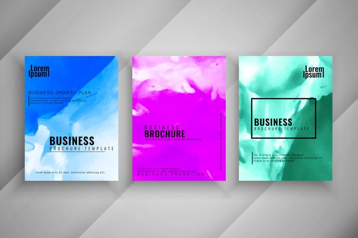 Abstracte zakelijke brochure moderne ontwerpset