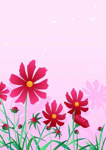 Fundo de flor vermelha