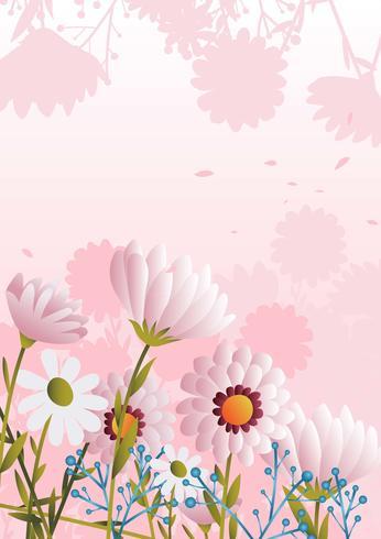 Roze bloem achtergrond