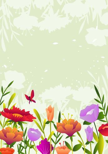 Bellissimo sfondo di fiori