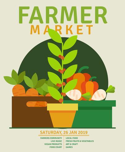 flyer ontwerp boerenmarkt