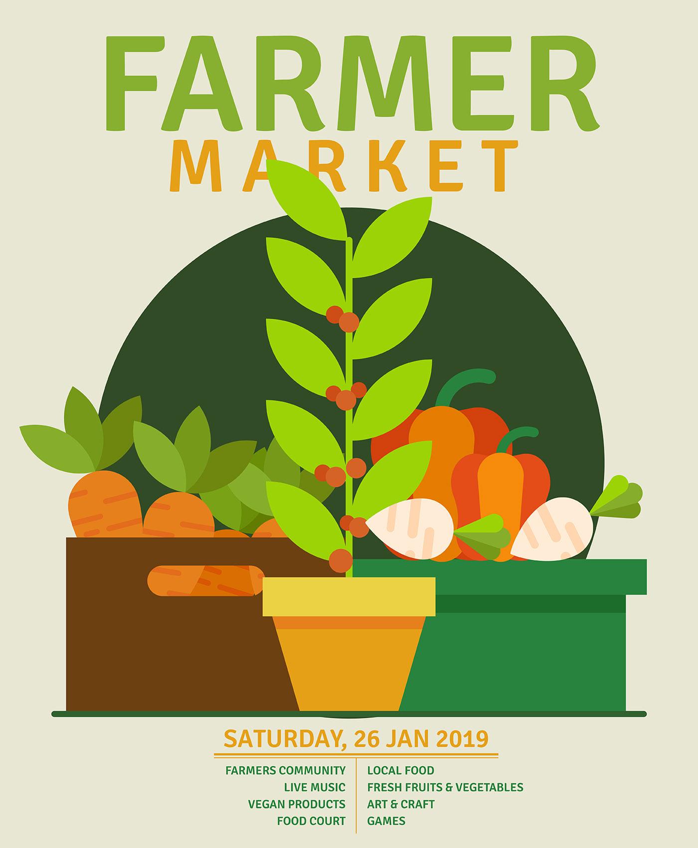 Flyer Design Farmers Market - Download Free Vectors ...