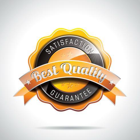 Vektor-beste Qualität beschriftet Illustration