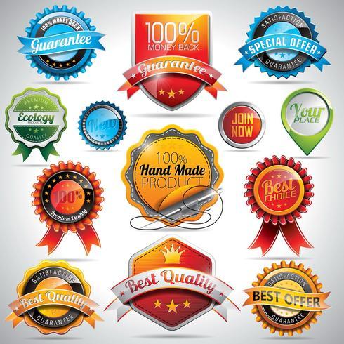 Vector set etiketten en badges illustratie