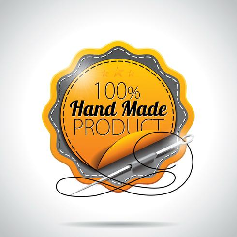 Vektor handgjord produkt etiketter illustration
