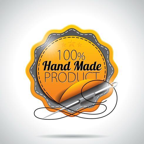 Vektor-handgemachtes Produkt beschriftet Illustration