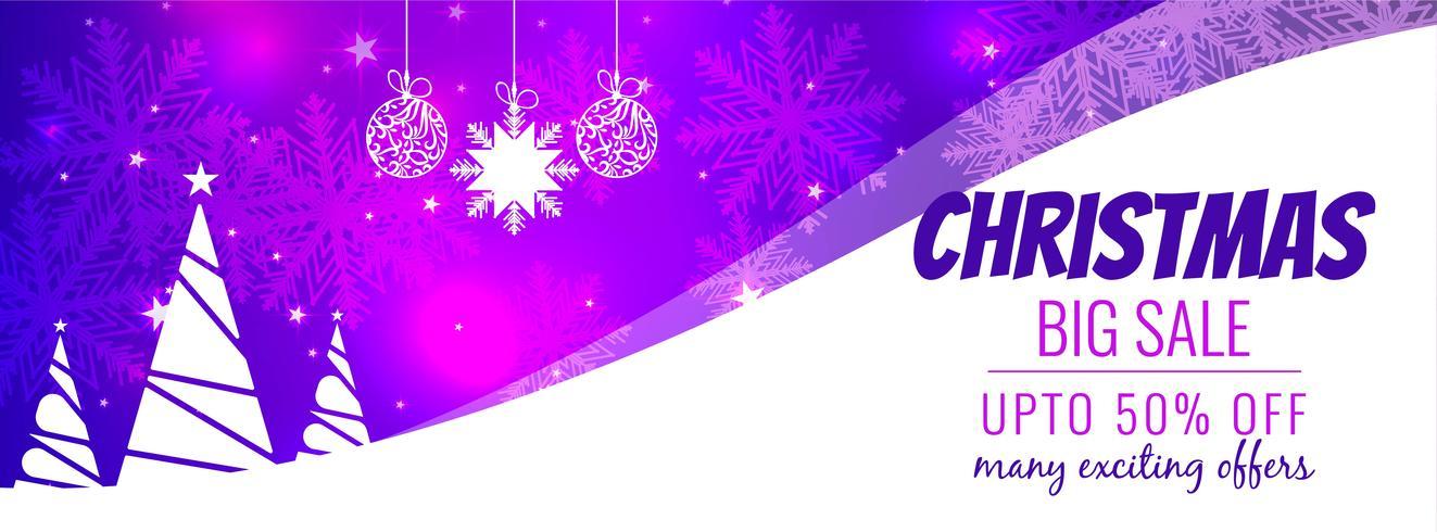 Sjabloon voor abstract kerst grote verkoop spandoek