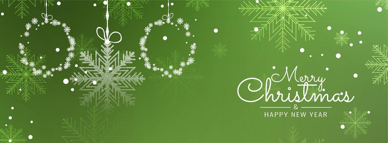 Abstracte decoratieve Merry Christmas-bannermalplaatje