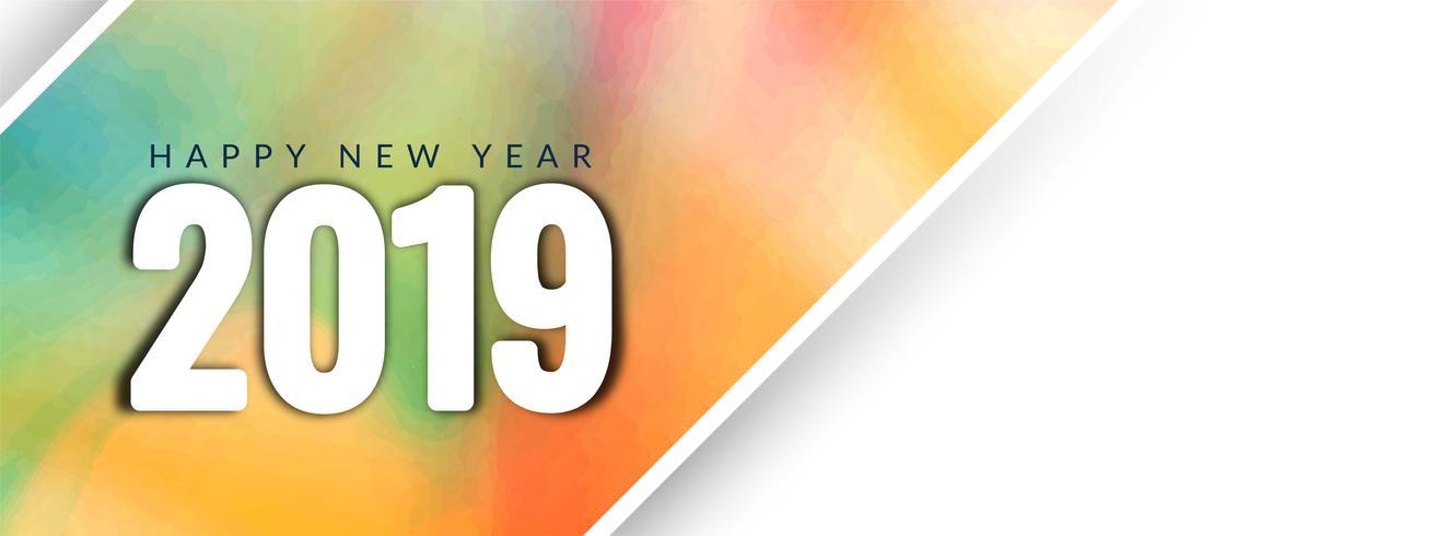 Elegant Gelukkig Nieuwjaar 2019-bannermalplaatje