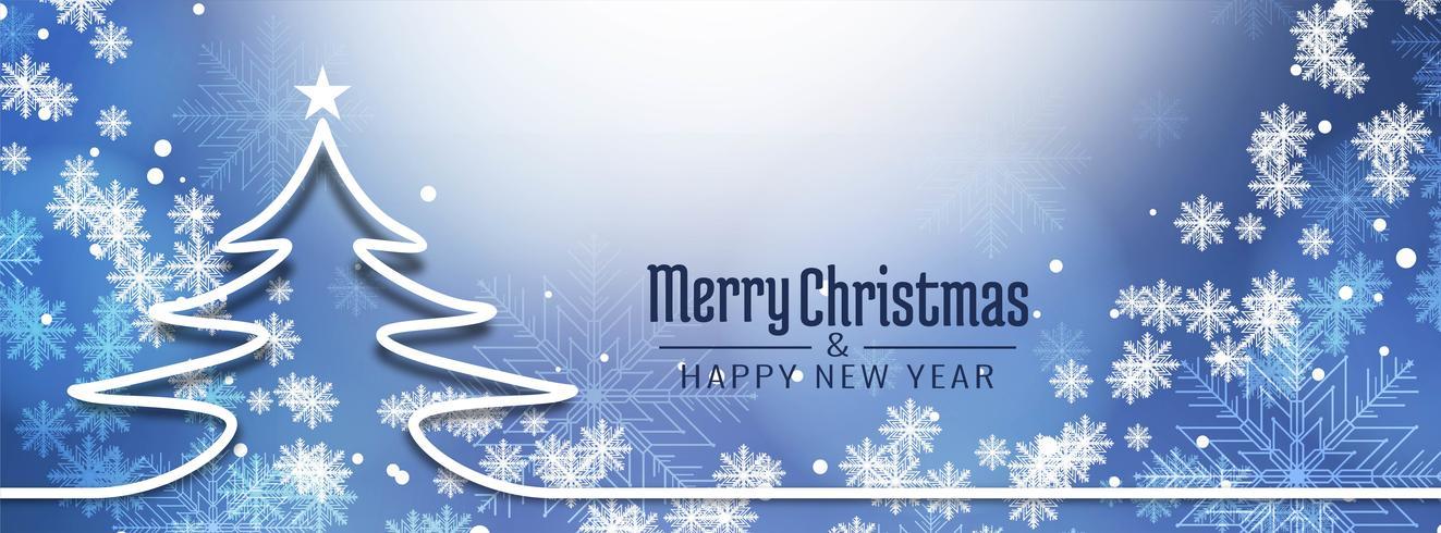 Abstrakte stilvolle Fahnenschablone der frohen Weihnachten