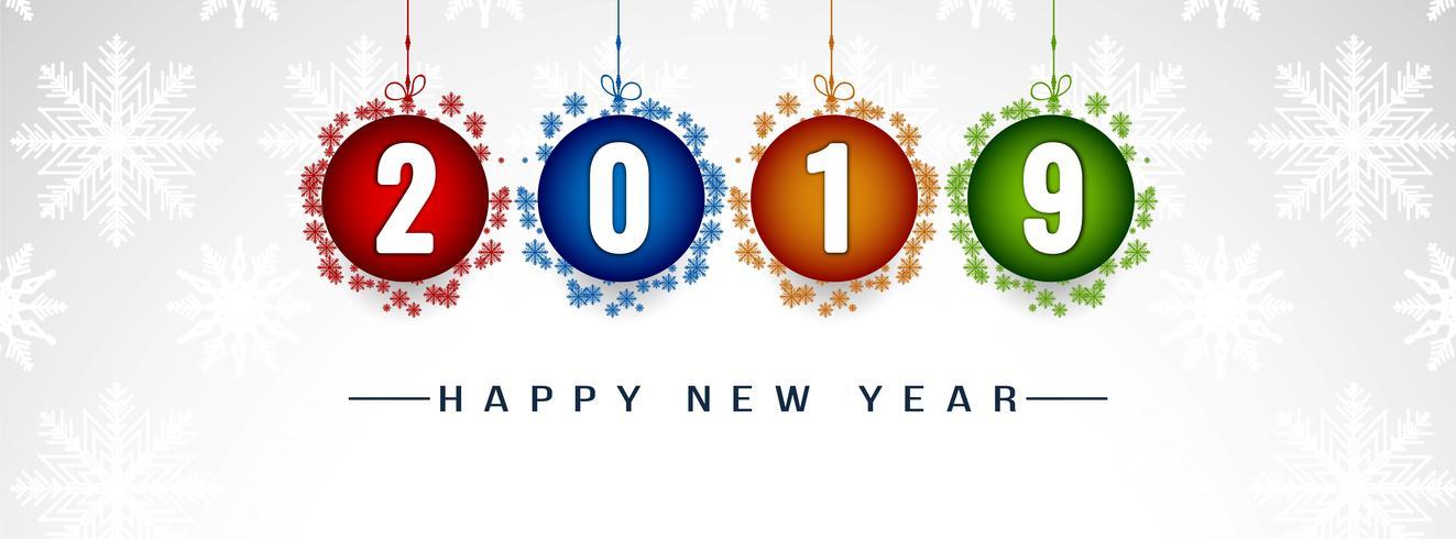 Frohes neues Jahr 2019 dekorative Banner Vorlage