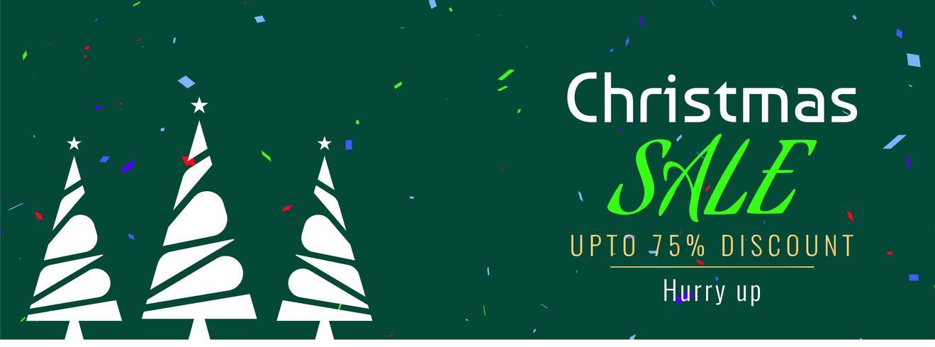 Vrolijk kerstfeest sjabloon voor spandoek verkoop