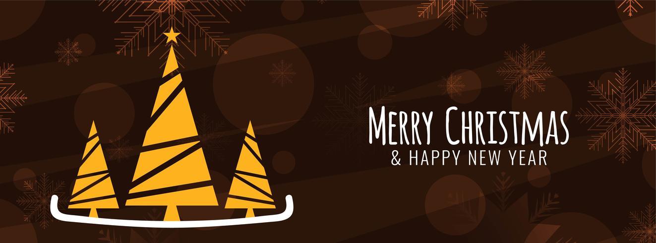 Elegant Merry Christmas-bannermalplaatje