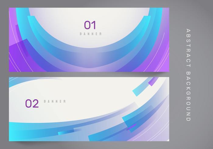 Stilvolle abstrakte moderne Fahnen-Vektor-Fahne