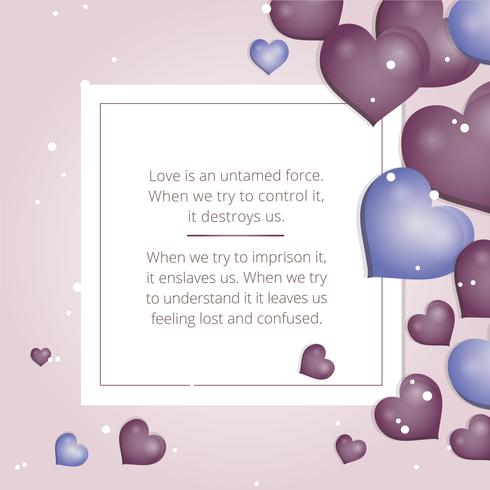 Vector Valentijnsdag wenskaart
