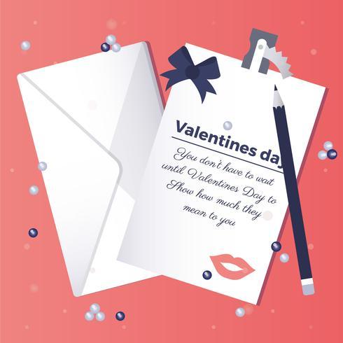 Vektor-Valentinstag-Illustration