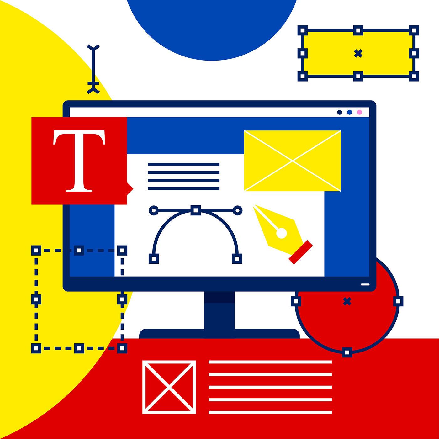 Graphic Design Software Illustration Vector