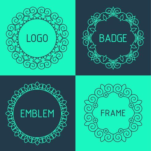 Esquema de vectores marcos y distintivos.