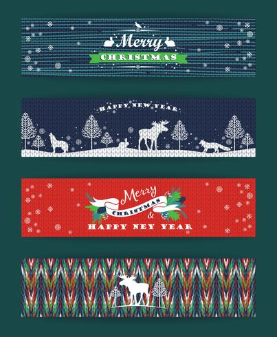 Set di Natale e Capodanno. Sfondi a maglia.