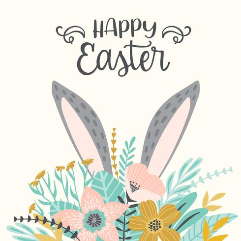 Happy Easter. Vector template for card, poster, flyer and other users.