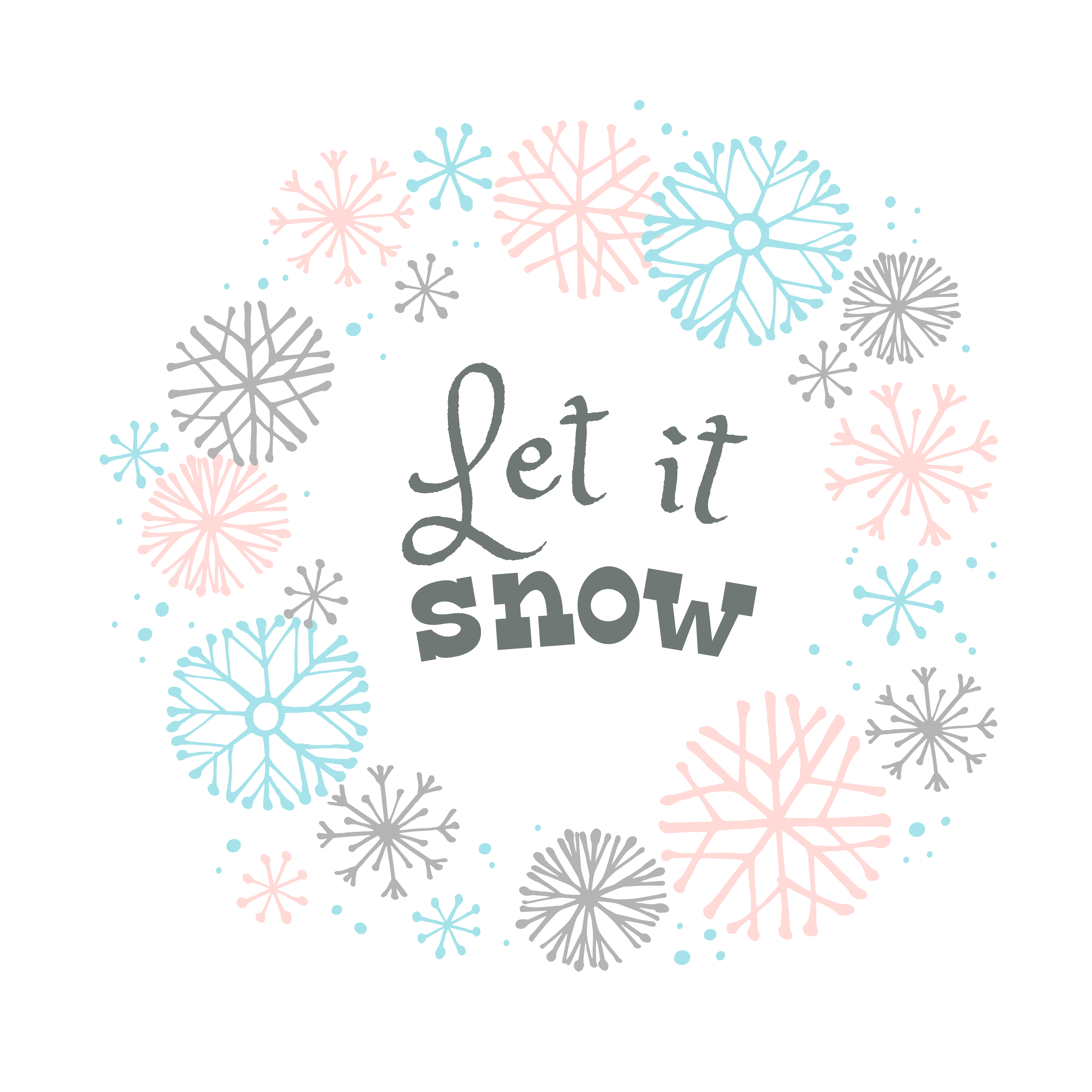 Winter lettering design on snow background with hand drawn snowflake frame. - Download ...