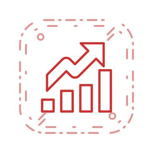 Icono de vector de crecimiento