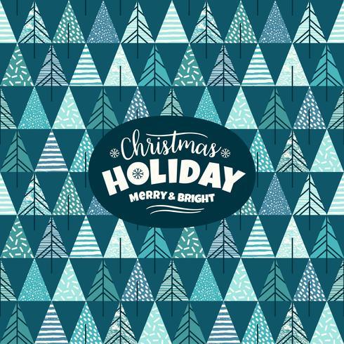 Abstracte geometrische illustratie met kerstbomen. Modern abstract ontwerp.