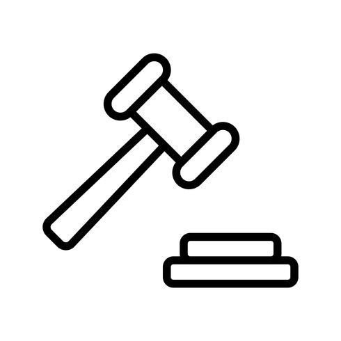 Icône de vecteur de vente aux enchères