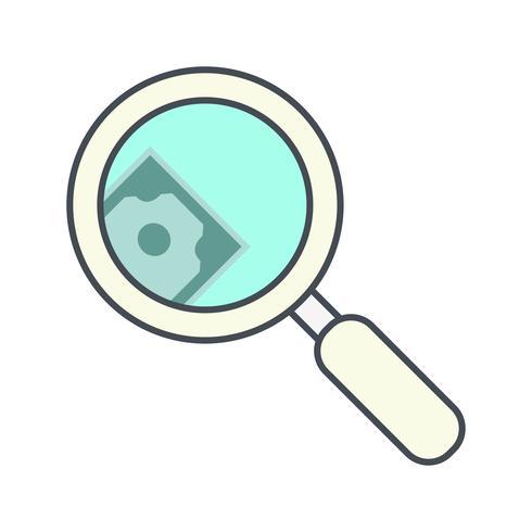 Geld zoeken Vector Icon