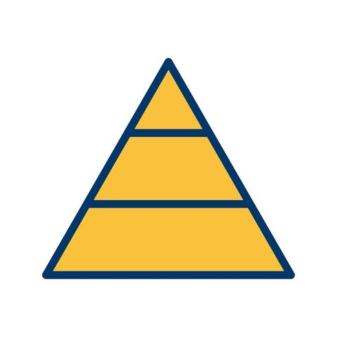 Pyramide-Vektor-Symbol
